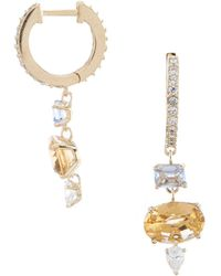 Nadri - Verdana Huggie Drop Earrings - Lyst