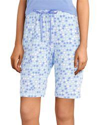 Hue - Tique Spot Dot Print Knit Bermuda Sleep Shorts - Lyst
