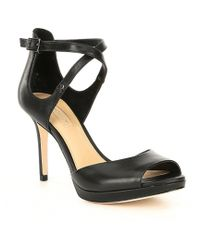 2a81f06b426 Antonio Melani Sarita Patent Leather Platform Dress Sandals in Black ...