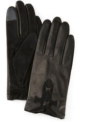 Frye Leather-stitch Gloves - Black