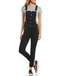 Celebrity Pink - Rolled Cuff Skinny Overalls - Lyst