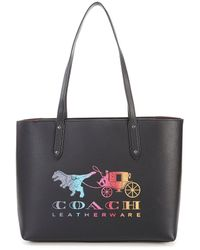 COACH Rexy And Carriage Central Zip Tote Bag - Black