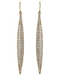 Vince Camuto - Pav Spear Linear Drop Earrings - Lyst
