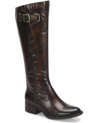 Born - Cort Tall Leather Block Heel Boots - Lyst