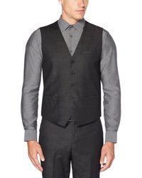 Perry Ellis - Slim-fit Chambray Slub Wrinkle-resistant Vest - Lyst