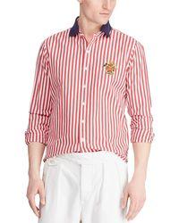 cb99807a7 Polo Ralph Lauren Linen Sport Shirt in Orange for Men - Lyst
