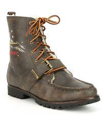 c57852f3 Men's Heavyweight Leather Ranger-s Boot - Multicolor