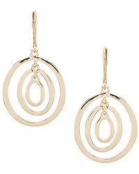 Anne Klein - Three Ring Orbital Earrrings - Lyst