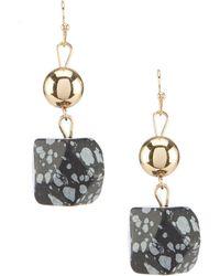 Dillard's - Tailored Nugget Drop Earrings - Lyst