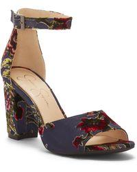 Jessica Simpson - Sherron Floral Sandals - Lyst
