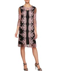 Alex Evenings - Embroidered Mock Jacket Dress - Lyst