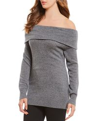 Antonio Melani - Luxury Collection Cashmere Off-the-shoulder Tiffany Sweater - Lyst