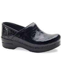 Dansko - Professional Black Tooled Clogs - Lyst