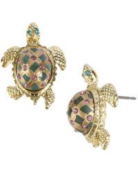 Betsey Johnson - Turtle Stud Earrings - Lyst