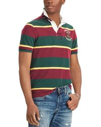 Polo Ralph Lauren - Stripe Rugby Short-sleeve Polo Shirt - Lyst