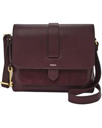 Fossil Kinley Small Front Pocket Crossbody Bag - Purple
