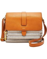 Fossil - Kinley Small Crossbody Handbags Neutral Stripe - Lyst