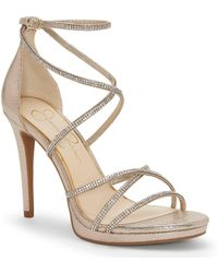 44f9ac4e5bb Lyst - Jessica Simpson Bonilynn Platform Dress Sandals in Brown