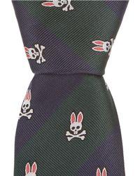 "Psycho Bunny - 50/50 Stripe Traditional 3.25"" Silk Tie - Lyst"