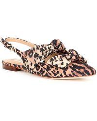 Antonio Melani Remalyn Leopard Print Double Bow Slingback Flats - Multicolor