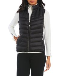 Tumi - Down Fill Ribbed Puffer Quilted Vest - Lyst