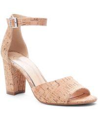 90711e42a09 Jessica Simpson - Sherron Cork Ankle Strap Block Heel Sandals - Lyst
