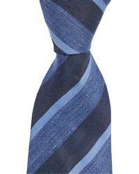 "John Varvatos - Heathered Stripe Traditional 3.14"" Silk Tie - Lyst"