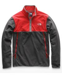 The North Face Glacier Alpine 1/4 Zip Long-sleeve Pullover - Gray