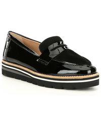 Antonio Melani Bradlie Patent Leather Loafers - Black