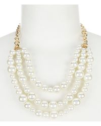 Dillard's - Tailored Pearl Frontal Necklace - Lyst