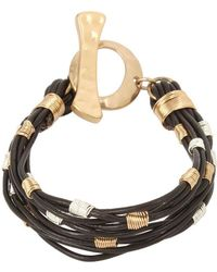 Robert Lee Morris - Wire Wrapped Leather Cord Bracelet - Lyst