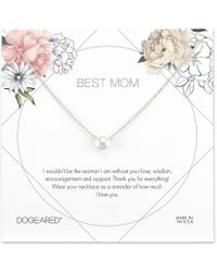 Dogeared - Best Mom Pearl Necklace - Lyst