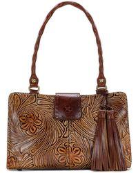 bf366cdd7db5 Fendi Zucca Shoulder Bag.  925. Shopbop · Patricia Nash - Tobacco Fields  Collection Rienzo Satchel - Lyst