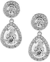 Nadri | Cubic Zirconia Drop Earrings | Lyst