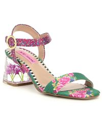 Betsey Johnson - Livvie Block-heel Sandals - Lyst