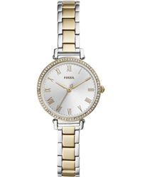 Fossil - Kinsey Three-hand Two-tone Stainless Steel Watch - Lyst