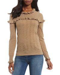 Chelsea & Violet - Victorian Ruffle Trim Sweater - Lyst