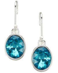 Anne Klein Stone Drop Earrings - Blue