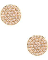 Kate Spade - Pav Circle Stud Earrings - Lyst