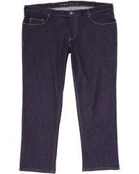 Perry Ellis Big Tall Dark Indigo Stretch Denim Jeans - Blue