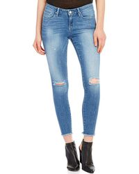 William Rast - Destructed Skinny Ankle Crop Jeans - Lyst