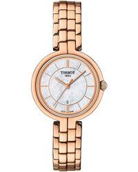 Tissot - Flamingo Rose Gold Bracelet Watch - Lyst