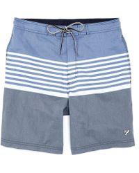 90bc891bab Original Penguin Colorblock Volley Swim Shorts in Blue for Men - Lyst