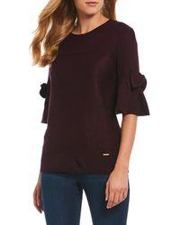Ivanka Trump - Bow Bell Sleeve Sweater - Lyst