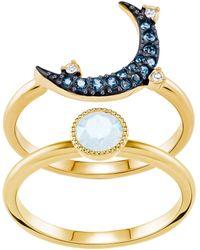 Swarovski Duo Moon Ring - Multicolour