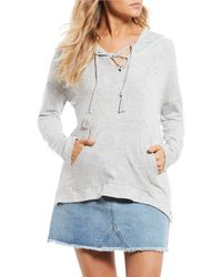 Roxy - Cozy Lace Up Hoodie - Lyst