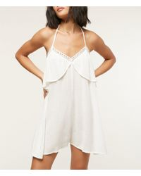 O'neill Sportswear Banks Romper Swimsuit Cover Up - White