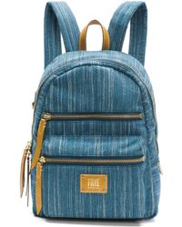 Frye - Ivy Denim Zip Backpack - Lyst