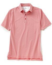 Bobby Jones Short-sleeve Jacquard Performance Polo - Pink