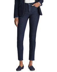Lauren by Ralph Lauren - Striped Regal Skinny Ankle Jeans - Lyst
